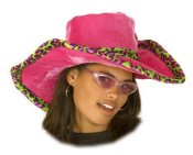 Ladies Pimp Hat - Pink w/Crazy Trim