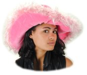 Super Pink Ladies Fur Hat