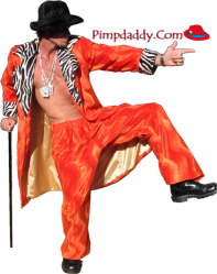 Pimp Suit - Orange w/Zebra Valboa Basic & Hat