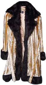 Pimpdaddy® Big Baller™ Pimp Suits - Gold Minky Velvet w/Black Fur Suit