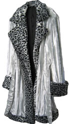 Pimpdaddy® Big Baller™ Pimp Suits - Ice Blue Minky Velvet w/Snow Leopard Fur Suit [SOLD OU