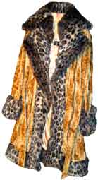 Pimpdaddy® Premium Pimp Suits - Gold Leopard Valboa w/Leopard Fur Pimp Suit  [SOLD OUT]