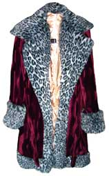 Pimpdaddy® Premium Pimp Suits - Plum Valboa w/Snow Leopard Fur Pimp Suit   [SOLD OUT]