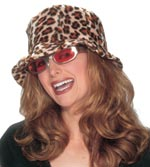 Ladies Leopard Bucket Hat