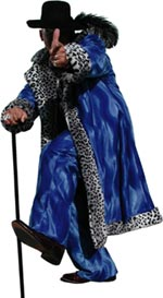Blue w/Snow Leopard Fur Valboa Suit [SOLD OUT]