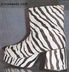 Platform Shoes - Pimp Shoes from Pimpdaddy (Zebra Fur) Size 12 Only
