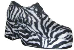 Platform Shoes - Pimp Shoes from Pimpdaddy (Zebra Shoe Heel)