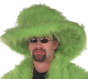 Green Fur Hat