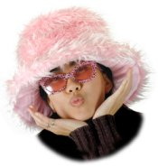 Pink Fur Bucket Pimp Hat