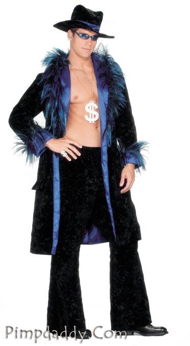 Pimp Suit Black Blue Sold