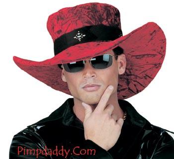 Pimp Hat Big Red