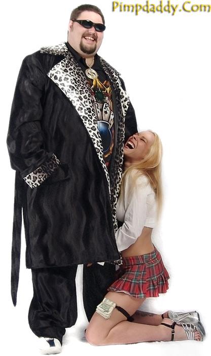 Pimpdaddy Pimp Suits Black W Snow Leopard Valboa Trim Pimp Suit