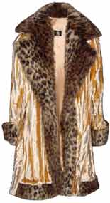 Pimpdaddy® Big Baller™ Pimp Suits - Gold Minky Velvet w/ Leopard Fur Suit