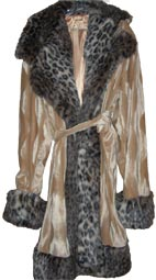 Pimpdaddy® Premium Pimp Suits - Gold Valboa with Leopard Fur Pimp Suit