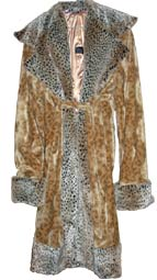 Pimpdaddy® Premium Pimp Suits - Gold Leopard Valboa with Cheetah Fur Pimp Suit