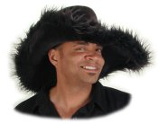 Pimp Hat - Black Fur Overload